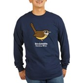 Birdorable Carolina Wren Long Sleeve Dark T-Shirt