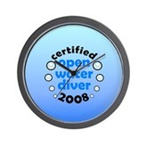 Open Water Diver 2008 Wall Clock