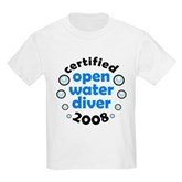 Open Water Diver 2008 Kids Light T-Shirt