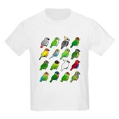 16 Birdorable Parrots Kids Light T-Shirt