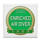 Certified Nitrox Diver 2008 Tile Coaster