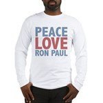 Peace Love Ron Paul Long Sleeve T-Shirt