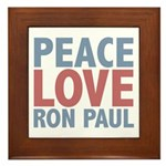 Peace Love Ron Paul Framed Tile