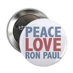 Peace Love Ron Paul 2.25&quot; Button (10 pack)