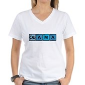 Obama Elements Women's V-Neck T-Shirt