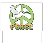 Birdorable Peace Dove Yard Sign