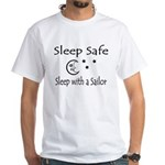 Sleep Safe - Sailor White T-Shirt