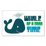 Whale of a Good Time Rectangle Sticker
