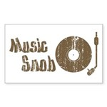 Music Snob Rectangle Sticker