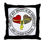 Part of my Heart is in Germany Throw Pillow