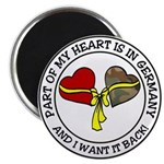 Part of my Heart is in Germany Magnet
