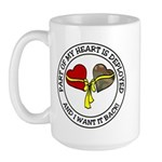 Part of my Heart is Deployed - Military Large Mug