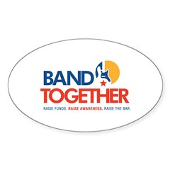 Band Together logo Oval Sticker (50 pk)