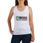 Obama 1up for America Women's Tank Top