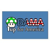 Obama 1up for America Rectangle Sticker