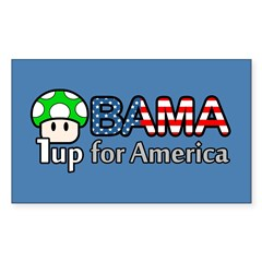 Obama 1up for America Sticker (Rectangle)