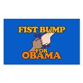 Fist Bump for Obama Rectangle Sticker