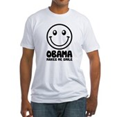 Obama Makes Me Smile Fitted T-Shirt