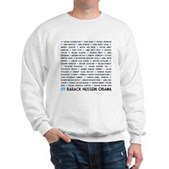 All Presidents up to Obama Sweatshirt