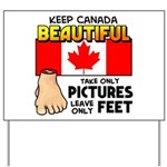 Canada Severed Foot Yard Sign