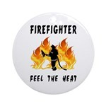 Firefighter Heat Ornament (Round)