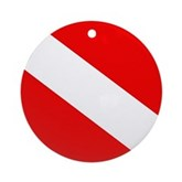 Diver Down Flag Ornament (Round)