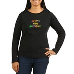 Autists Think Differently Women's Long Sleeve Dark