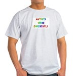Autists Think Differently Ash Grey T-Shirt