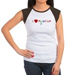 I {heart} My Autism Women's Cap Sleeve T-Shirt