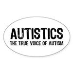 True Voice of Autism Sticker (Oval)