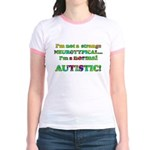 Normal Autistic Jr. Ringer T-Shirt