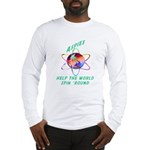 Aspies Spin the World Long Sleeve T-Shirt