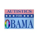 Autistics for Obama Rectangle Magnet