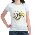 Cure Ignorance (Rainbow) Jr. Ringer T-Shirt