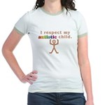 I Respect My Autistic Child Jr. Ringer T-Shirt