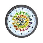 Stimmy Day Wall Clock