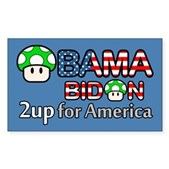 2up for America Rectangle Sticker