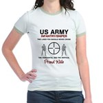 Infantry Sniper Crosshairs Wife Jr. Ringer T-Shirt