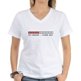 Off-Gassing ... Please Wait Women's V-Neck T-Shirt