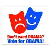 Vote Obama: No Drama! Small Poster