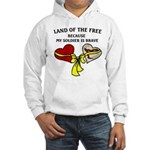 Land of the Free 2 hearts Hooded Sweatshirt
