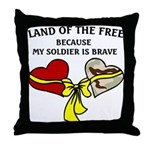 Land of the Free 2 hearts Throw Pillow