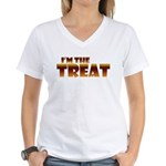 Glowing I'm the Treat Women's V-Neck T-Shirt