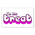 Retro I'm the Treat Rectangle Sticker 50 pk)