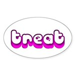 Retro Treat Oval Sticker (Oval)