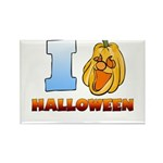 I Love Halloween Rectangle Magnet (100 pack)