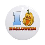 I Love Halloween Round Ornament (Round)