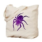 Purple Spider Tote Bag
