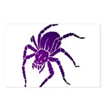 Purple Spider Postcards (Package of 8)