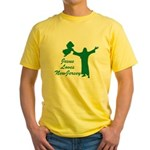 Jesus Loves New Jersey Yellow T-Shirt